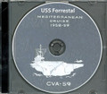 USS Forrestal CVA 59 MED CRUISE BOOK Log 1959 CD