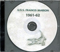 USS Francis Marion APA 249 1961 1962 CRUISE BOOK CD US Navy