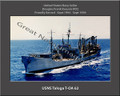 USNS Taloga T-AO 62 Personalized Ship Canvas Print