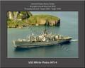 USS White Plains AFS 4 Personalized Ship Canvas Print