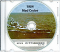 USS Pittsburgh CA 72 1953 1954 Med Cruise Book CD RARE