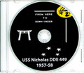 USS Nicholas DDE 449 Westpac and Australia CRUISE BOOK Log 1957 - 1958  CD