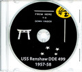 USS Renshaw DDE 499 Westpac and Australia CRUISE BOOK Log 1957 - 1958  CD