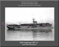 USS Copahee CVE 12 Personalized Ship Canvas Print