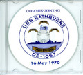 USS Rathburne DE 1057 Commissioning Program on CD 1970