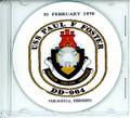 USS Paul F Foster DD 964  Commissioning Program on CD 1976
