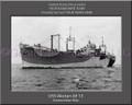 USS Akutan AE 13Personalized Ship Canvas Print