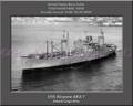 USS Alcycone AKA 7 Personalized Ship Canvas Print
