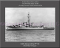 USS Alexandria PF 18 Personalized Ship Canvas Print