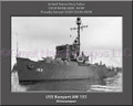 USS Buoyant AM 153 Personalized Ship Canvas Print