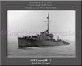 USS Casper PF 12 Personalized Ship Canvas Print