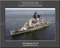 USS Albany CG 10 Personalized Ship Canvas Print #2