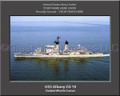 USS Albany CG 10 Personalized Ship Canvas Print #3