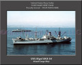 USS Algol AKA 54 Personalized Ship Canvas Print #2