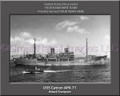 USS Catron APA 71 Personalized Ship Canvas Print #2