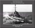 USS Wesson DE 184 Personalized Ship Canvas Print