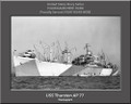 USS Thurston AP 77 Personalized Ship Canvas Print