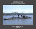 USS Conway DD 507 Personalized Ship Canvas Print