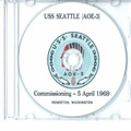 USS Seattle AOE 3 Commissioning Program on CD 1969