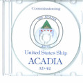 USS Acadia AD 42 Commissioning Program on CD 1981