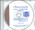 USS Durham LKA 114 Commissioning Program on CD 1969 Plank Owner