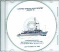 USS Sentry MCM 3 Commissioning Program on CD 1989 Plank Owner