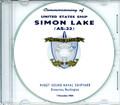 USS Simon Lake AS 33 Commissioning Program on CD 1964 Plank Owner