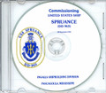 USS Spruance DD 963 Commissioning Program on CD 1975 Plank Owner