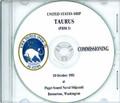 USS Taurus PHM 3 Commissioning Program on CD 1981 Plank Owner