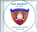 USS Bradley DE 1041 Commissioning Program on CD 1965 Plank Owner