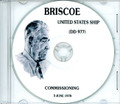 USS Briscoe DD 977 Commissioning Program on CD 1978 Plank Owner