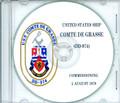 USS Comte DE Grasse DD 874 Commissioning Program on CD 1978 Plank Owners