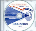 USS Dixon AS 37 Commissioning Program on CD 1971 Plank Owners