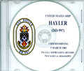 USS Hayler DD 887 Commissioning Program on CD 1983 Plank Owners