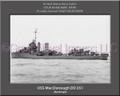 USS MacDonough DD 351 Personalized Ship Photo Canvas Print