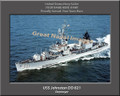 USS Johnston DD 821 Personalized Ship Photo 2 Canvas Print
