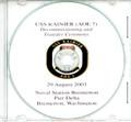 USS Rainier AOE 7 Decommissioning Program on CD 2003