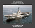 USS Oriskany CVA 34  Personalized Ship Canvas Print 3