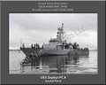 USS Zephyr PC 8 Personalized Ship 2 Print on Canvas