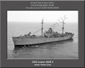 USS Luzon AGR 2 Personalized Ship Photo on Canvas Print