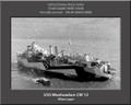 USS Weehawken CM 12 Personalized Ship Photo on Canvas Print