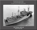 USS Stokes AKA 68 Personalized Ship Photo on Canvas Print
