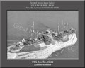 USS Apolla AS 25 Personalized Ship Photo on Canvas Print