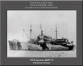 USS Cyrene AP 13 Personalized Ship Photo on Canvas Print