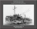USS Alecto AGP 14 Personalized Ship Photo on Canvas Print