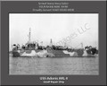 USS Adonis ARL 4 Personalized Ship Photo on Canvas Print