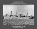 USS Avery Island AG 76 Personalized Ship Photo on Canvas Print