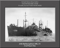 USS Bellerophon ARL 31 Personalized Ship Photo on Canvas Print