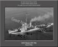 USS Slater DE 766 Personalized Ship Photo on Canvas Print