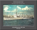 USS Williamson DD 244 Personalized Ship Photo on Canvas Print